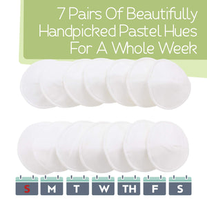 Organic Bamboo Washable Nursing Breast Pads - 14 Pack