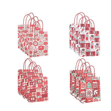 Load image into Gallery viewer, Kraft Paper Gift Shopping Bags with Handles 12 PCS