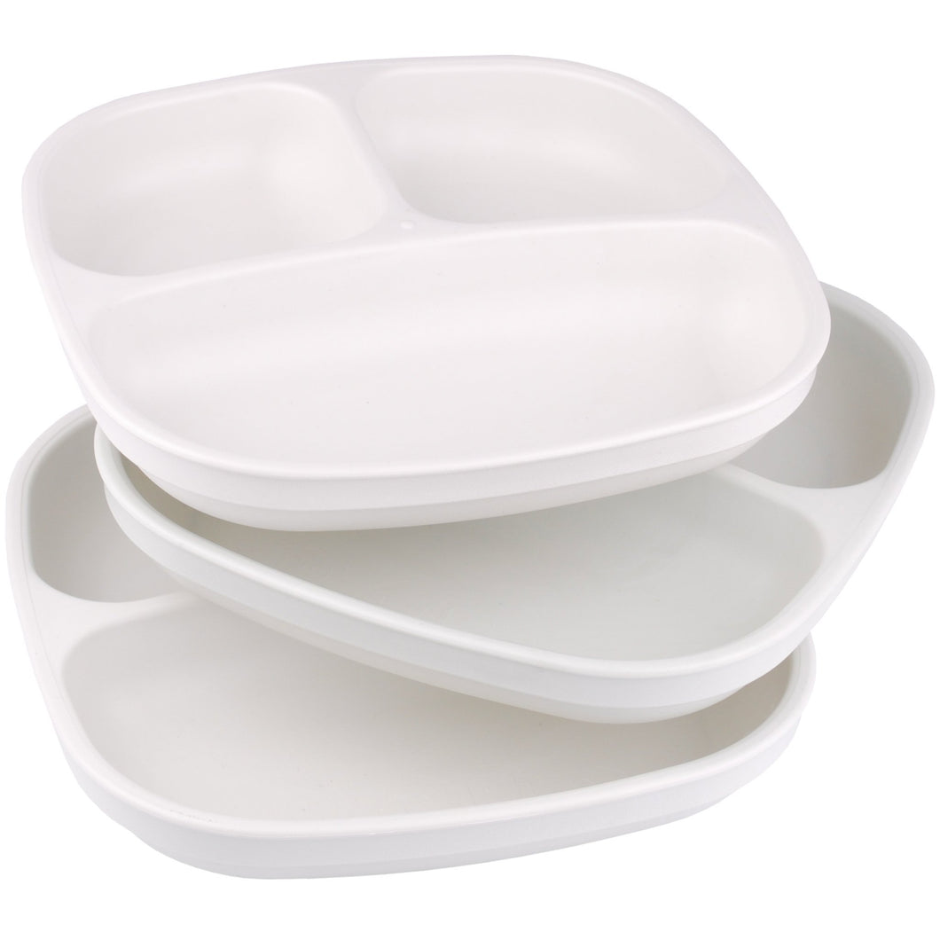 Divided Plates with Deep Sides for Baby, Toddler Meals - 3 Pack