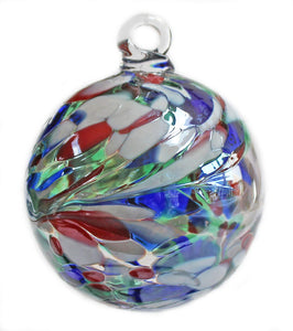 "Iridescent 2.5"" Kugel Ball Ornament"