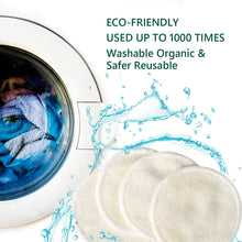 Load image into Gallery viewer, 20 Packs Organic Reusable Makeup Remover Pads, Washable Eco-friendly Natural Bamboo Cotton Rounds for all skin types with Cotton Laundry Bag