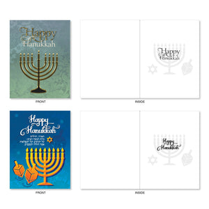 "Hanukkah Lights Greeting Cards with Envelopes - 4"" x 5.12"""