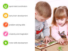 Load image into Gallery viewer, Wooden Matching Puzzle for Toddlers, Kids and Babies