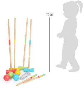 Classic Croquet game  Garden Toy for All Ages