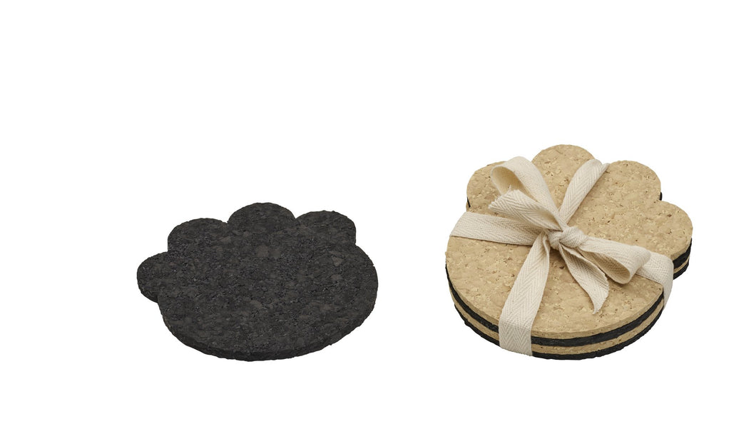 Paw Print Coaster for the Petlover Recycled Rubber, 4 Count