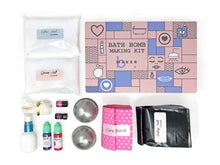 Load image into Gallery viewer, DIY Bath Bomb Making Kit  with Lavender & Rose Essential Oil