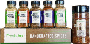 Gourmet Organic Spices and Seasoning for BBQ & Grill Lovers, Gift Box of 6