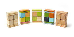 8 Piece Tegu Pocket Pouch Magnetic Wooden Block Set, Natural