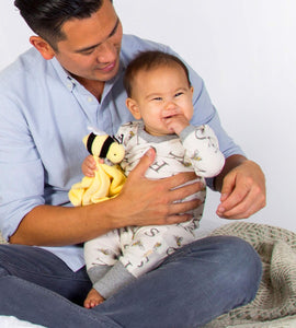 Organic Lovey Plush, Hold Me Bee Soother Security Blanket,