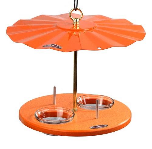 Recycled Orange Oriole Bird Feeder