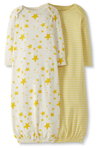 Organic Sleeper Gown3-6 months, 2 Pack