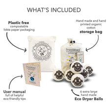 Load image into Gallery viewer, Organic Eco Wool Dryer Balls - 6 Pack - 100% Handmade, Fair Trade, Organic