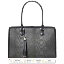 Load image into Gallery viewer, Laptop Bag for Women - 17 inch Computer Briefcase for Women Handmade Luxury Vegan Leather