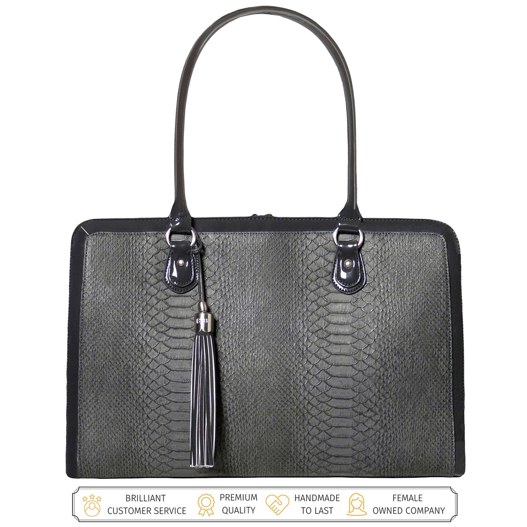 Laptop Bag for Women - 17 inch Computer Briefcase for Women Handmade Luxury Vegan Leather