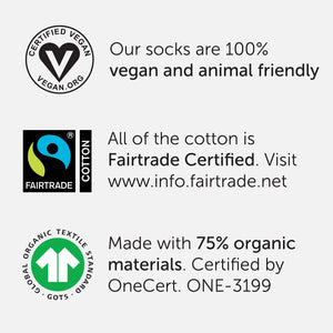 Unique Organic Cotton Socks - Gift a Set of 3 and Protect the Planet