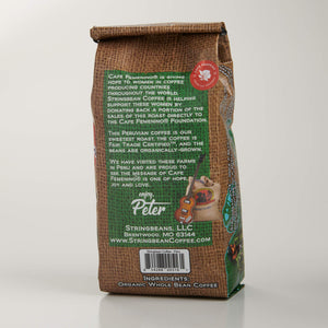 Cafe Femenino Peru Coffee, Fair Trade Certified, Organic, Two 12 Ounce Bags