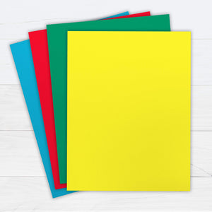 "Printworks Bright Cardstock, 65 lb, 4 Assorted Bright Colors, FSC Certified, 50 Sheets, 8.5"" x 11"""