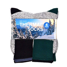 Load image into Gallery viewer, Heavy Weight Recycled Cotton Thermal Boot Socks  4 Pairs