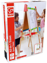 Load image into Gallery viewer, Award Winning Hape All-in-One Wooden Kid's Art Easel with Paper Roll and Accessories