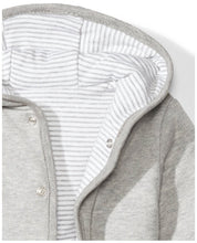 Load image into Gallery viewer, Baby Reversible Jacket with Hood, Grey Heather, 3-6 Months