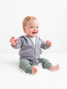Baby  Organic Cotton Infant Jogger Pants - Newborn 0-3M