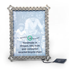 "Load image into Gallery viewer, Bike Chain Picture Frame  - 5"" x 7"""