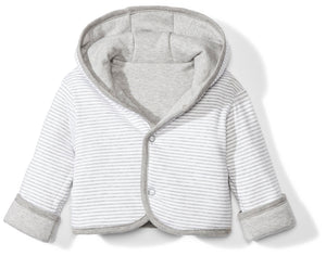Baby Reversible Jacket with Hood, Grey Heather, 3-6 Months