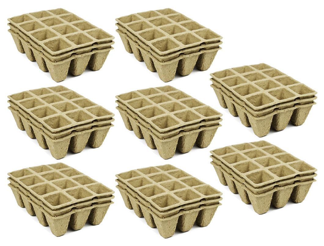 Set of 24 Biodegradable Recycled Peat Trays  Twelve 3