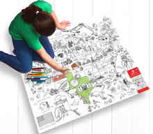 Load image into Gallery viewer, Colour-in Durable White Paper Tablecloth 37.5-Inch by 50-Inch