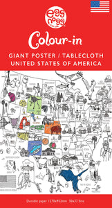 Colour-in Durable White Paper Tablecloth 37.5-Inch by 50-Inch