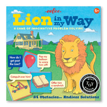 Load image into Gallery viewer, Lion in My Way Problem Solving Obstacle Board Game for Kids