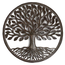 Load image into Gallery viewer, Haitian Recycled Steel Drum Organic Tree of Life 23 x 23 inches Fair Trade