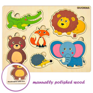 Wooden Matching Puzzle for Toddlers, Kids and Babies