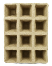 "Load image into Gallery viewer, Set of 24 Biodegradable Recycled Peat Trays  Twelve 3"" Pots ea Tray"