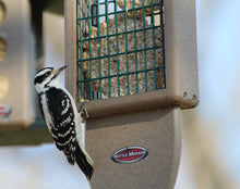 Load image into Gallery viewer, Recycled Plastic Double Suet Cake Tail Prop Suet Bird Feeder with Hanging Cable