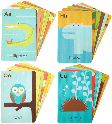 Petit Collage Alphabet A-Z Animals Flash Cards (26 Cards)
