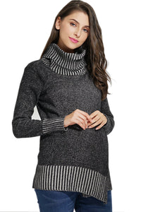 Organic Cotton Maternity and Nursing Turtleneck Tunic