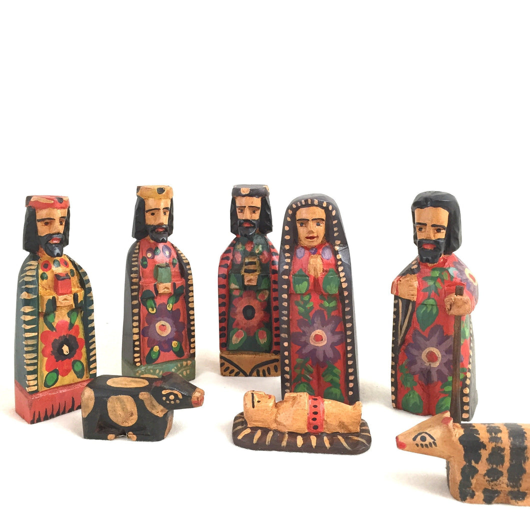 Altiplano Hand Carved Nativity Scene