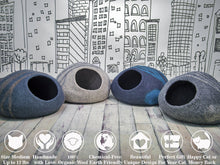 Load image into Gallery viewer, Handmade 100% Merino Wool Felt Cat/Kitten Bed Cave