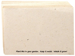 Handmade Seeded Plantable Recycled Note Paper 100 Sheets 6 x 4 Inches