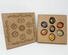 Load image into Gallery viewer, Sanskrit 7 Chakra Stone Set Box