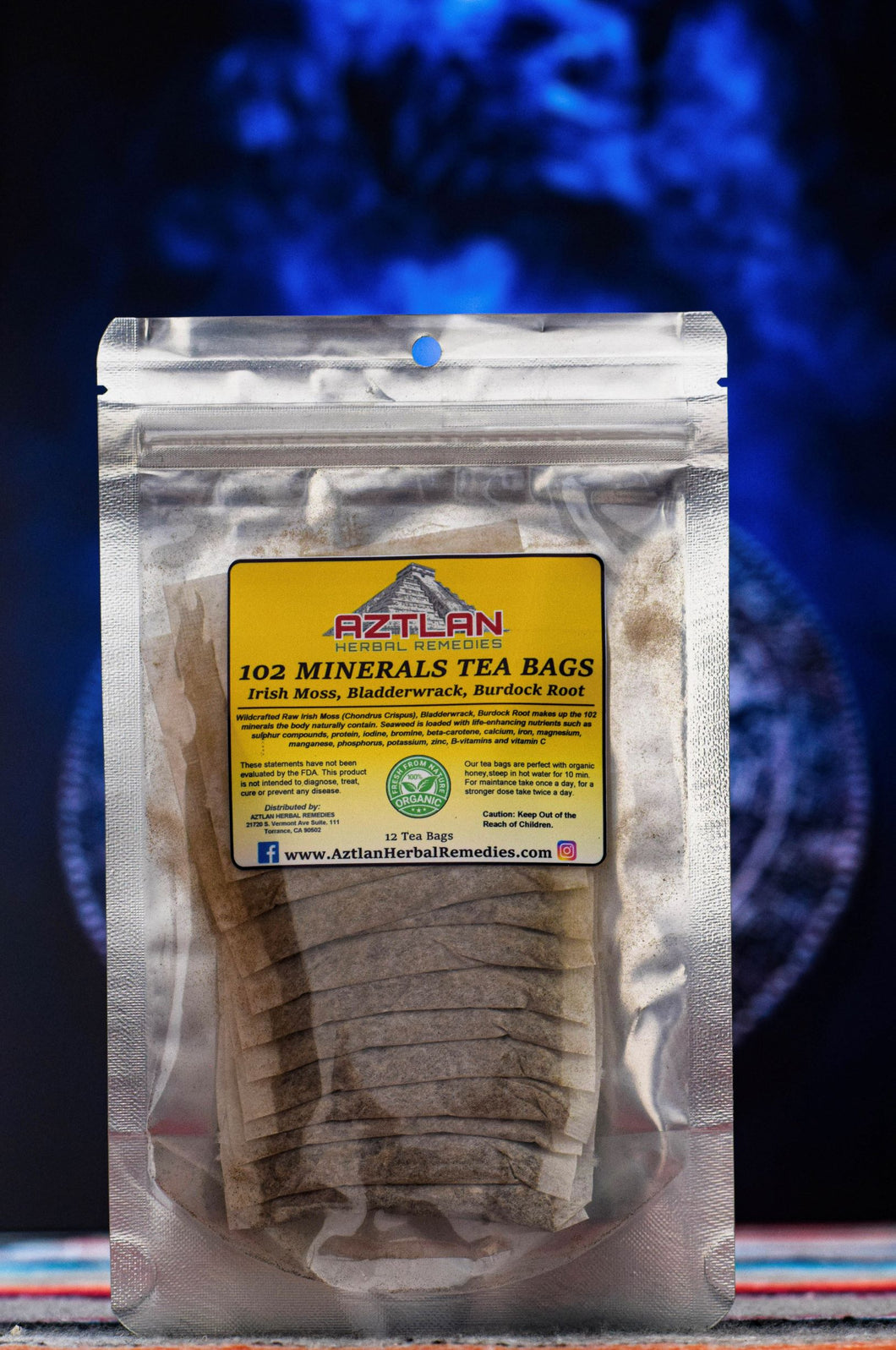 102 Mineral Teabags - Burdock Root Herbal Tea | Aztlan Herbal Remedies