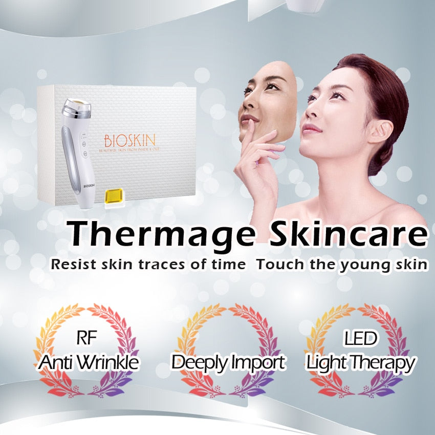 BIOSKIN THERMAGE Smart RF Facial Beauty Device with LED Light Therapy