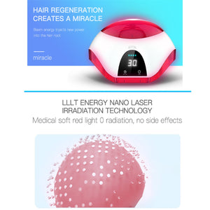 650nm Laser Therapy Helmet with LCD Display for Hair Restoration & Alopecia