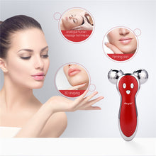 Load image into Gallery viewer, Micro Current 3D V Shape Face Ball Roller for Facial Lifting, Firming, Tightening, Wrinkle Removal