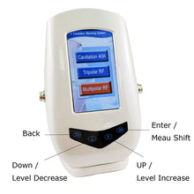 Load image into Gallery viewer, 40K Ultrasonic Cavitation Machine with RF + Photon Light for Face & Body