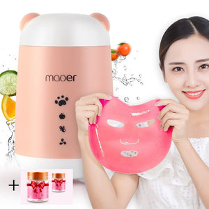 MOOER DIY Face Mask Machine with 2 botles of Collagen