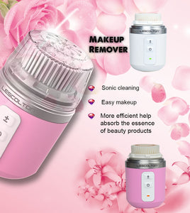 Ultrasonic Wireless Rotary Facial Cleansing Brush for deep cleaning, exfoliating & massage