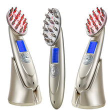 Load image into Gallery viewer, Laser Massage Nurse Comb with RF+ EMS+ PHOTON +O3 + INFRARED for Hair Growth