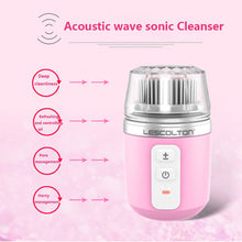 Load image into Gallery viewer, Ultrasonic Wireless Rotary Facial Cleansing Brush for deep cleaning, exfoliating & massage